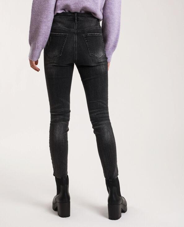 Jean skinny high waist délavé noir