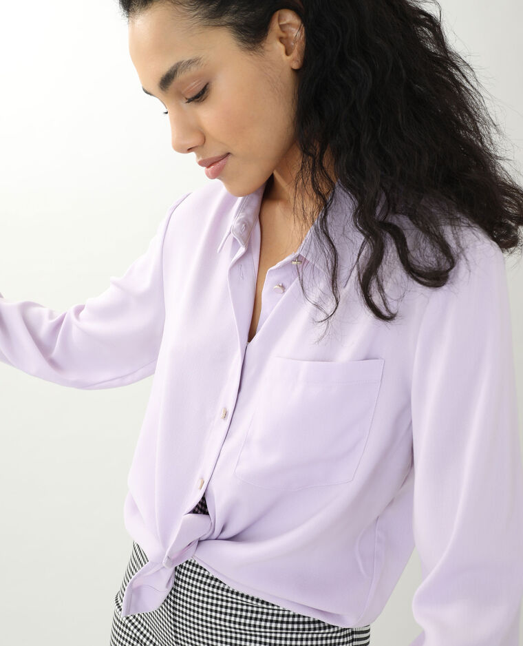 Chemise fluide violet