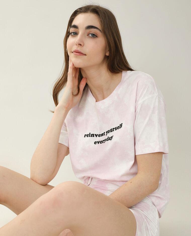 T-shirt oversize tie and dye écru - Pimkie
