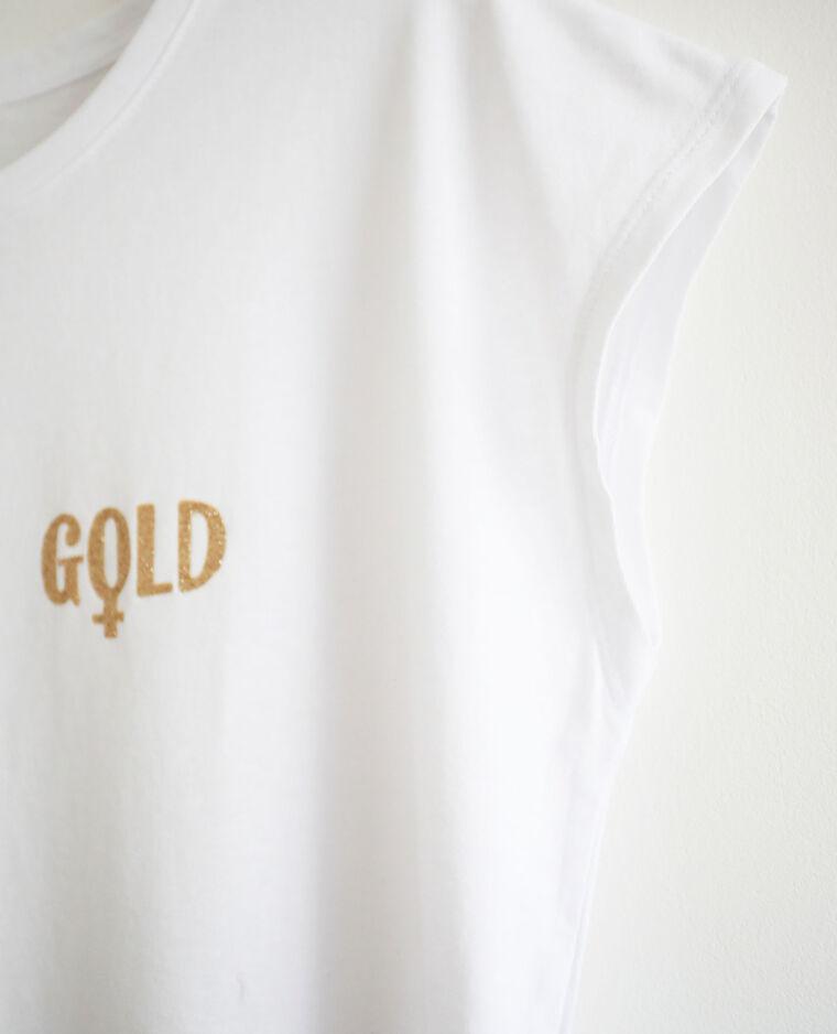 T-shirt à manches courtes écru