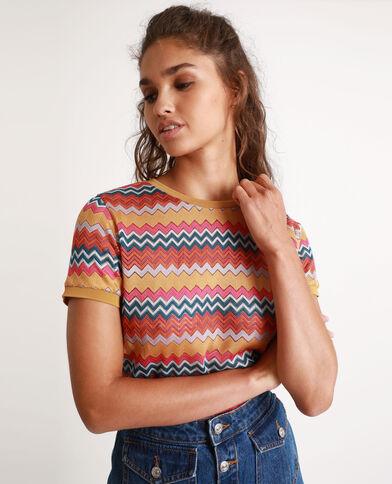 T-shirt multicolore jaune