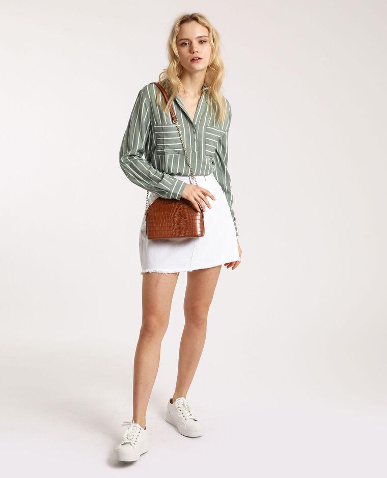 Chemise rayée vert