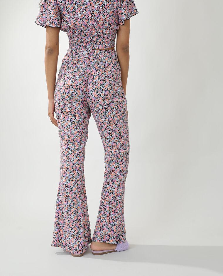 Pantalon fleuri noir - Pimkie