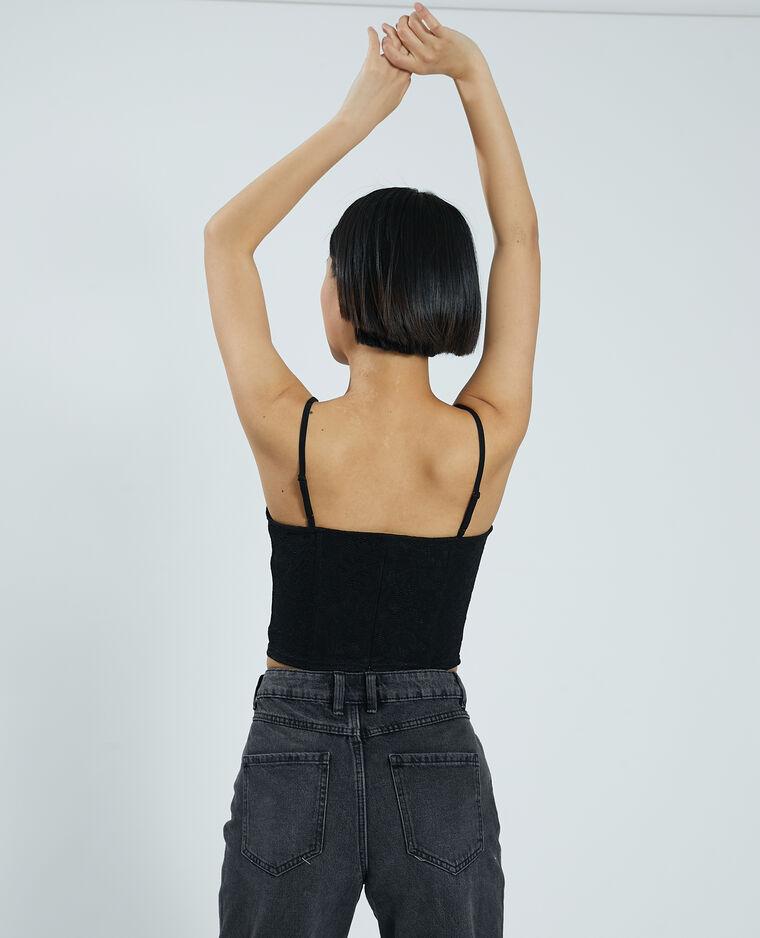 Brassière corset dentelle noir - Pimkie