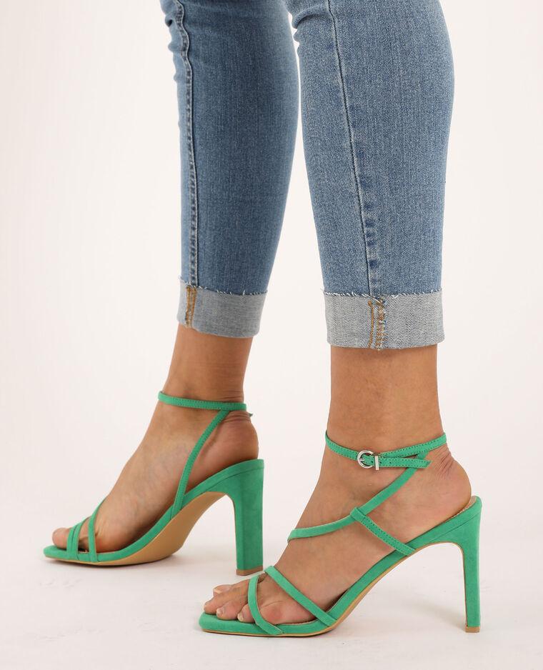 Sandales à talons vert