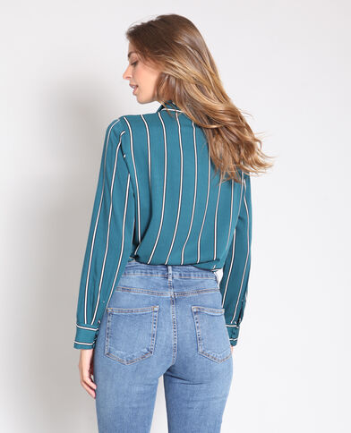 Chemise à rayures vert