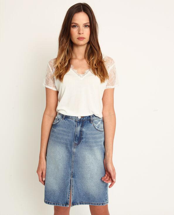 NEW. T-shirt dentelle blanc cassé ae9f13a9e07