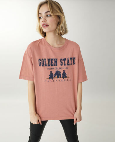 T-shirt manches courtes rose