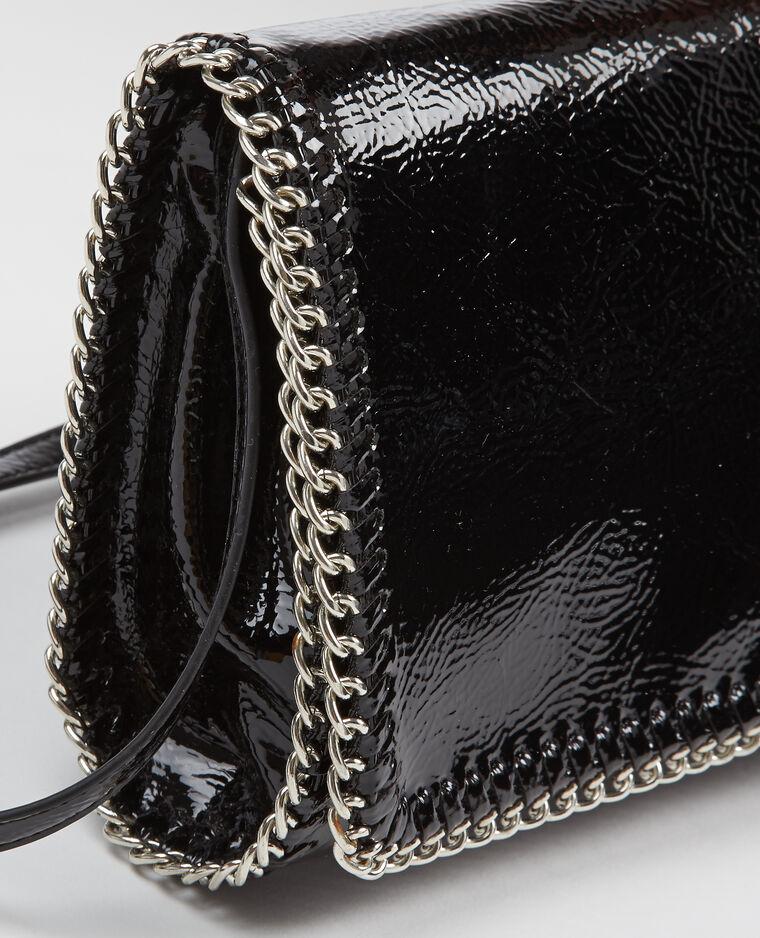 Sac pochette à chaines noir