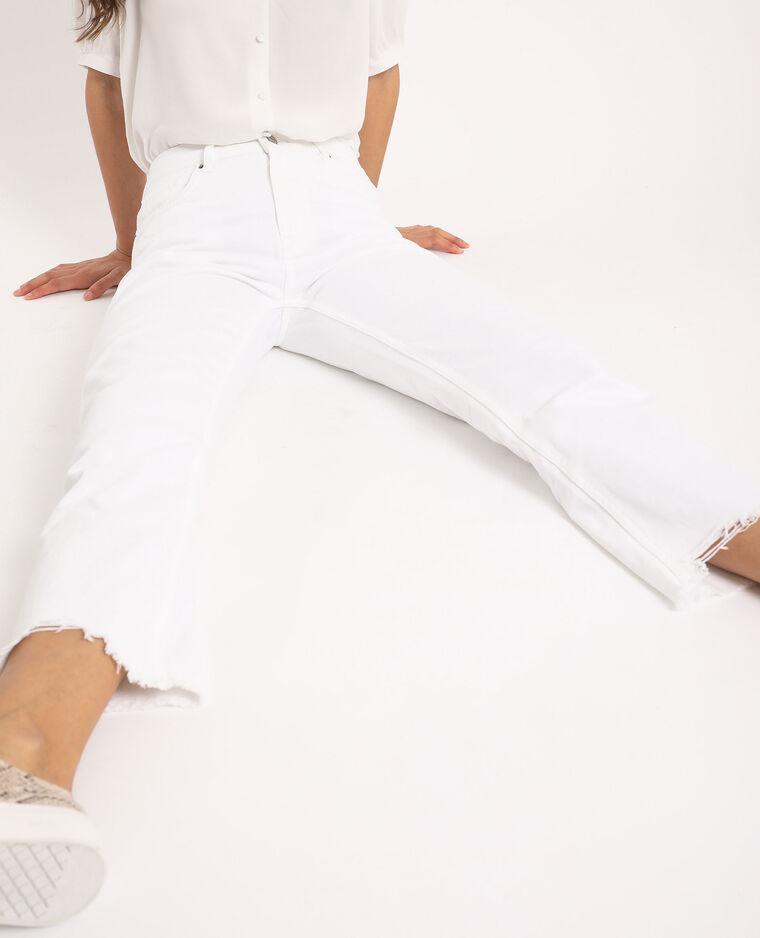 Jean straight high waist écru