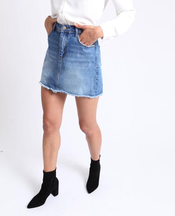 0d114ca5aeab5 Jupe en jean bleu