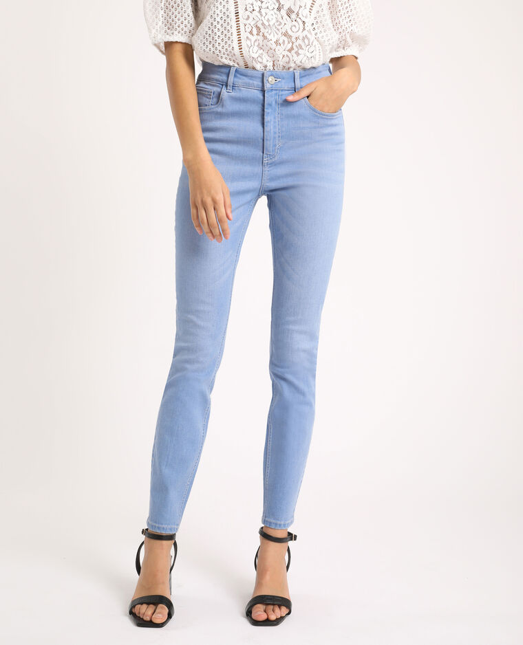 Jean skinny high waist bleu délavé - Pimkie