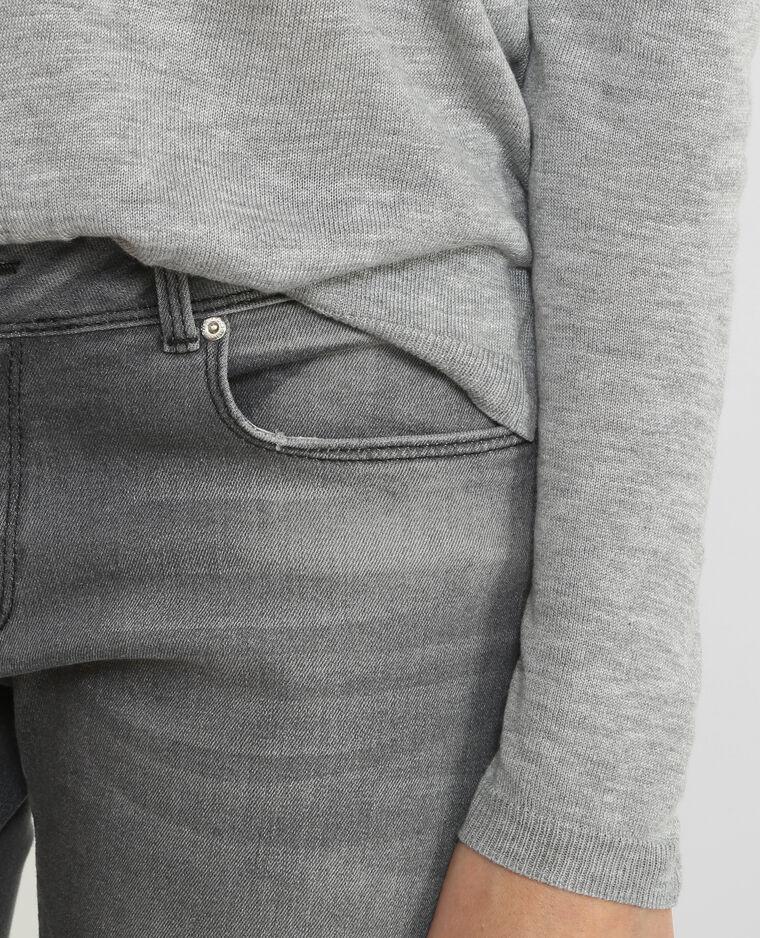Pull détail dentelle gris chiné