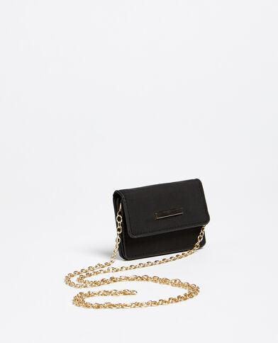 Porte-monnaie avec bandoulière noir