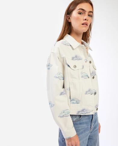 Surchemise en jean nuages blanc - Pimkie