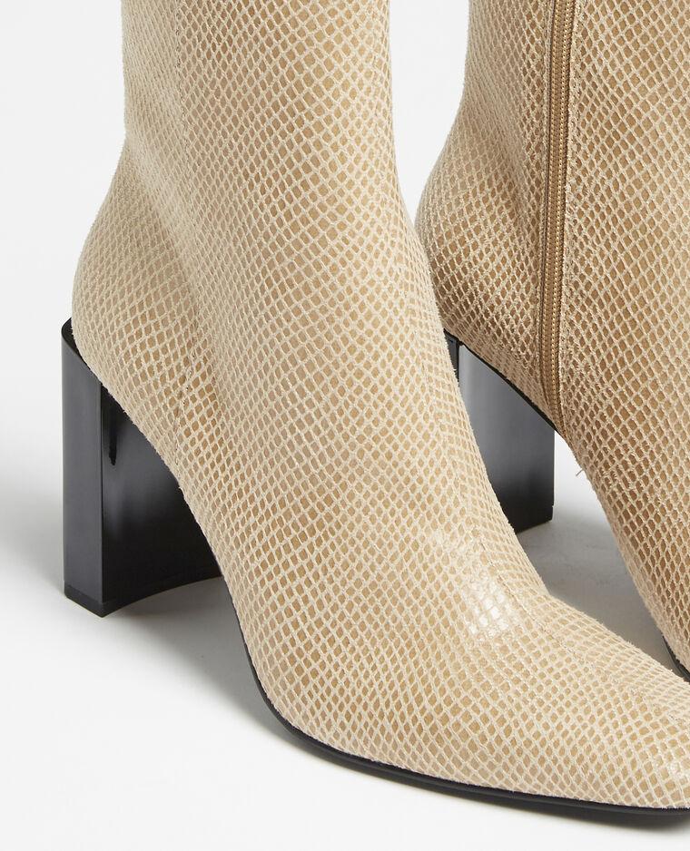 Boots à talons beige - Pimkie