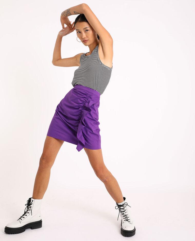 Jupe à volants violet - Pimkie