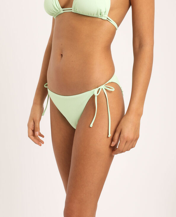 Bas de bikini échancré vert fluo