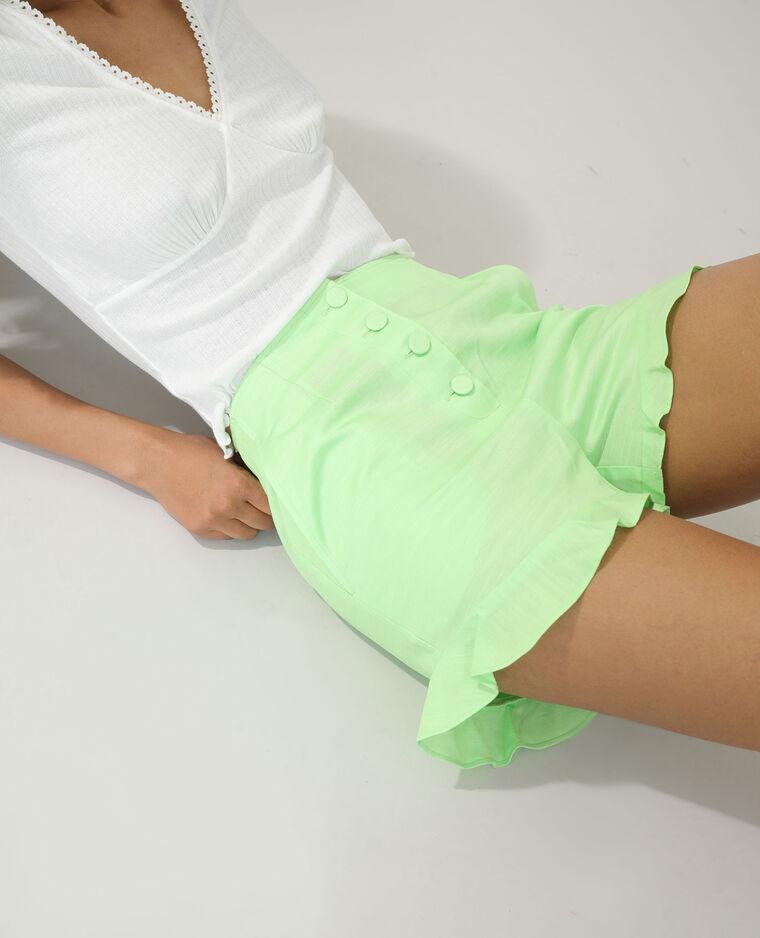 Short à volants vert - Pimkie