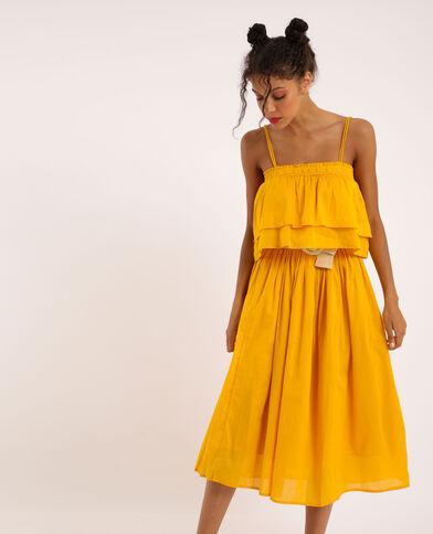 Robe à volants jaune