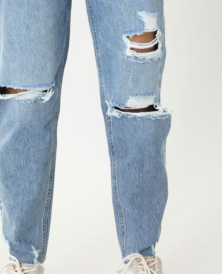 Jean mom high waist bleu denim - Pimkie