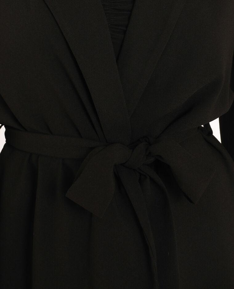 Blazer fluide à ceinture noir