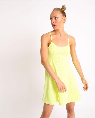Petite robe à pois jaune fluo