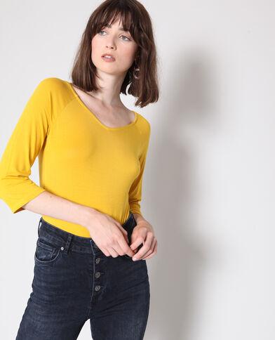 Body à manches 3/4 jaune