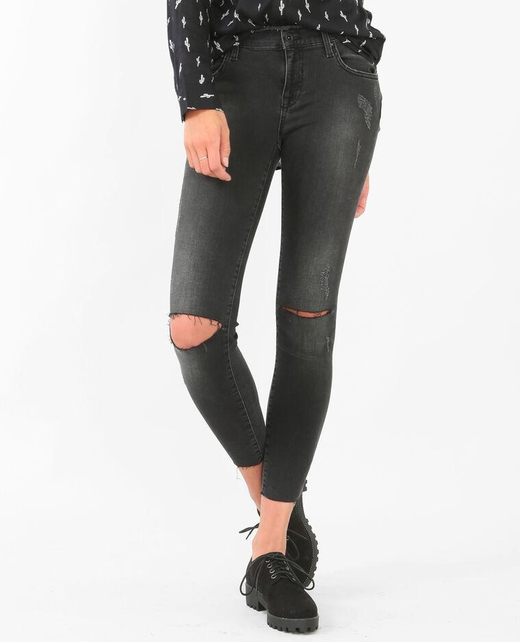 Jean slim taille haute noir - 184017899A08   Pimkie da7e982d512c