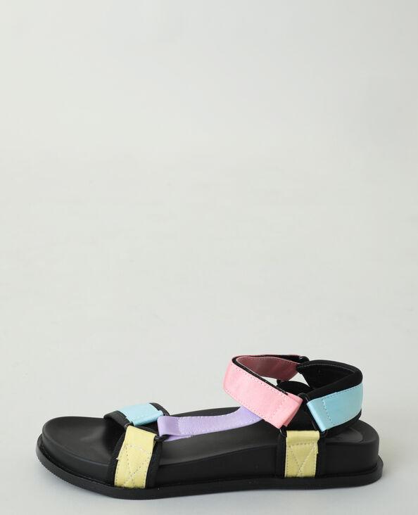 Sandales multicolores bleu