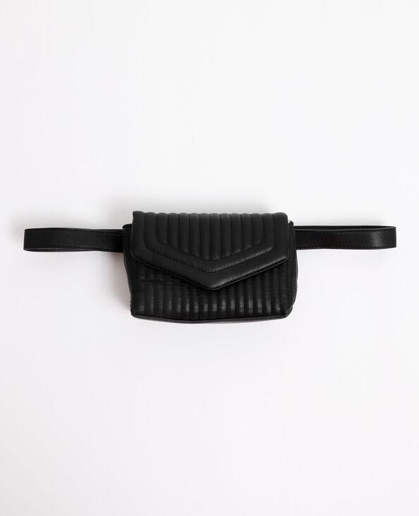 Sac-ceinture matelassé noir