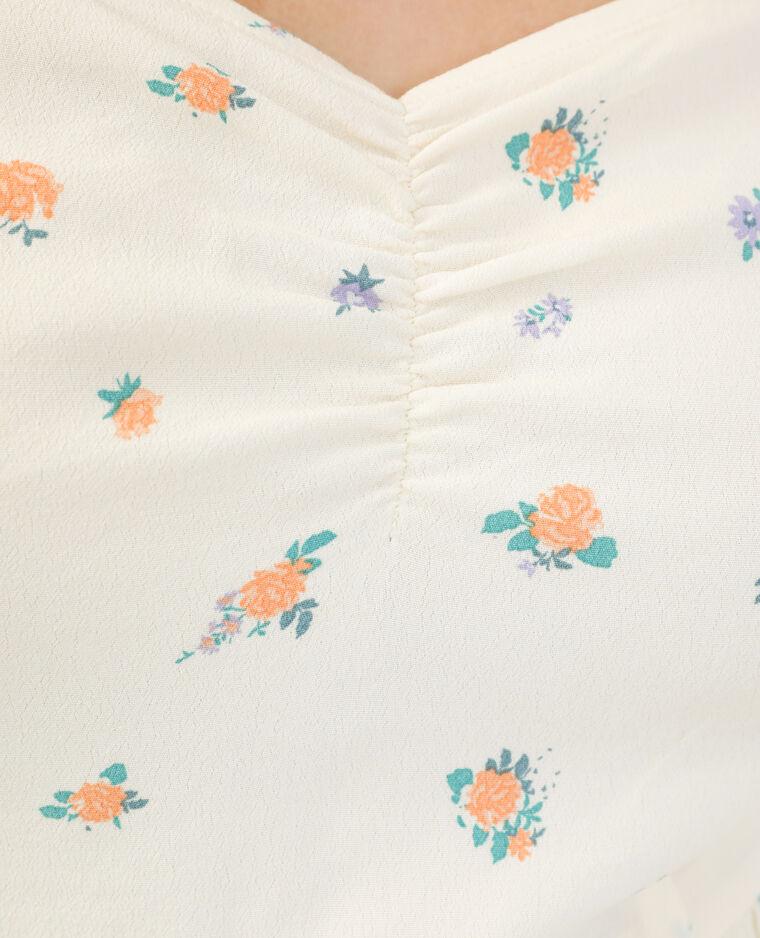 Robe fleurie beige - Pimkie