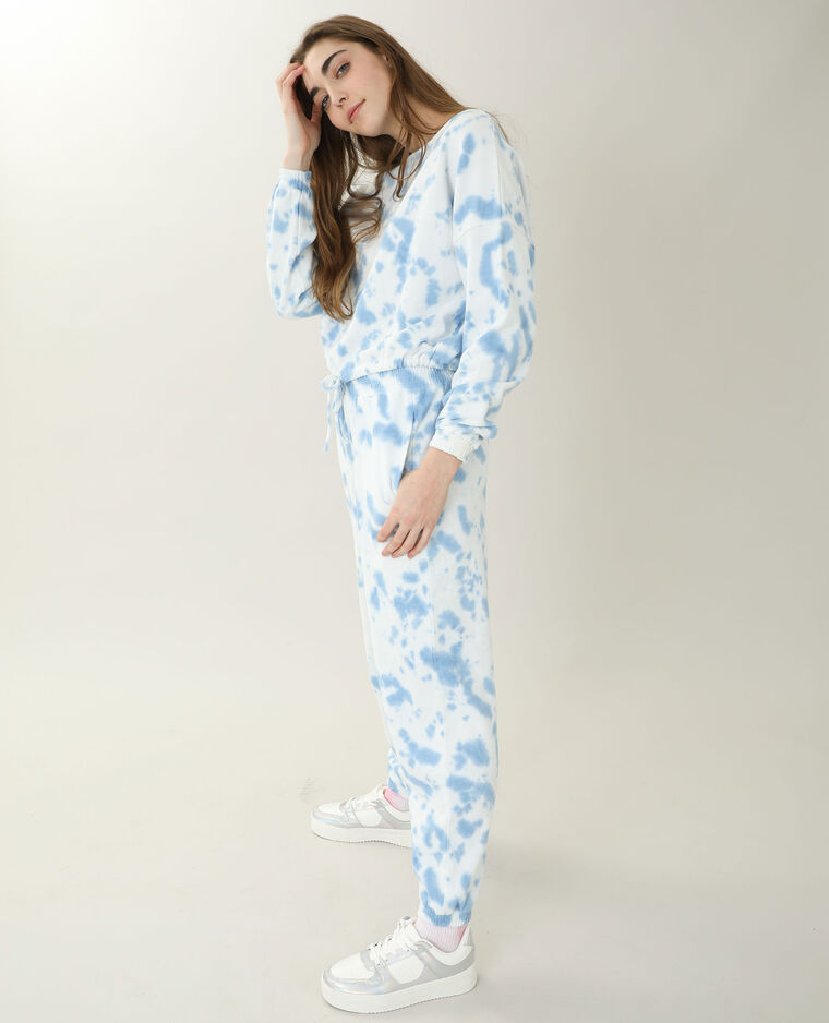 Sweat oversize tie and dye blanc - Pimkie