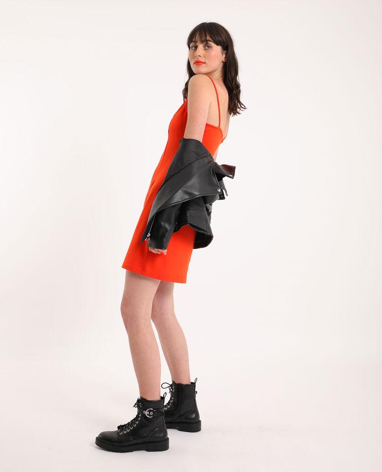 Robe moulante orange