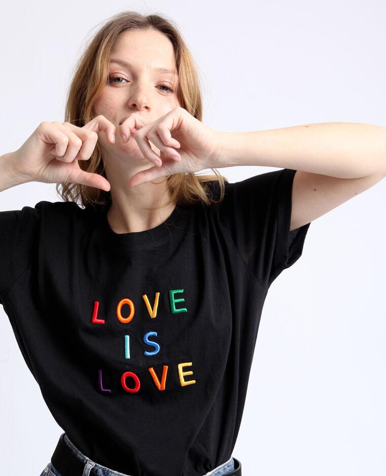 T-shirt LOVE noir