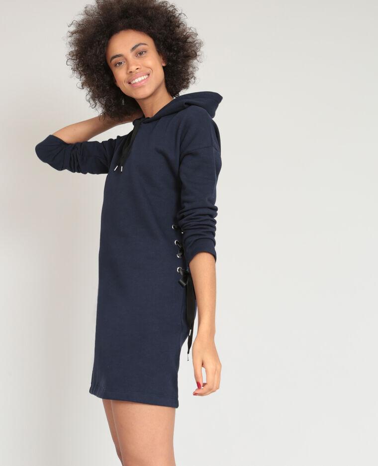 2dbf1d5b756 Robe sweat bleu marine - 780849635A06
