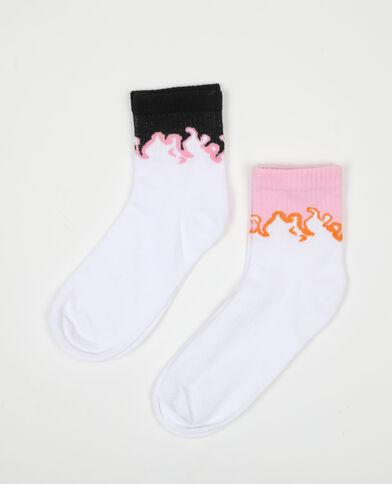 Lot de 2 paires de chaussettes flammes rouille - Pimkie