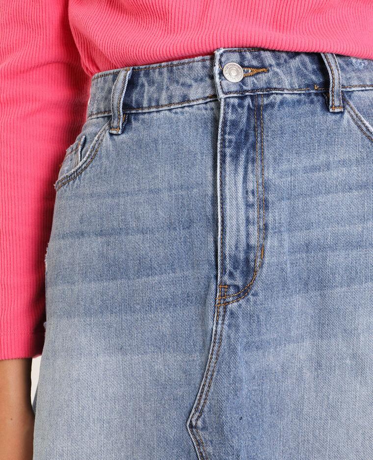 Jupe en jean bleu délavé