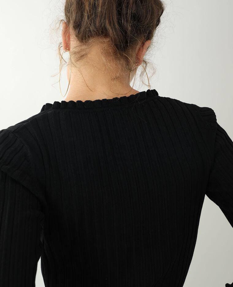 Petit gilet côtes plates noir - Pimkie