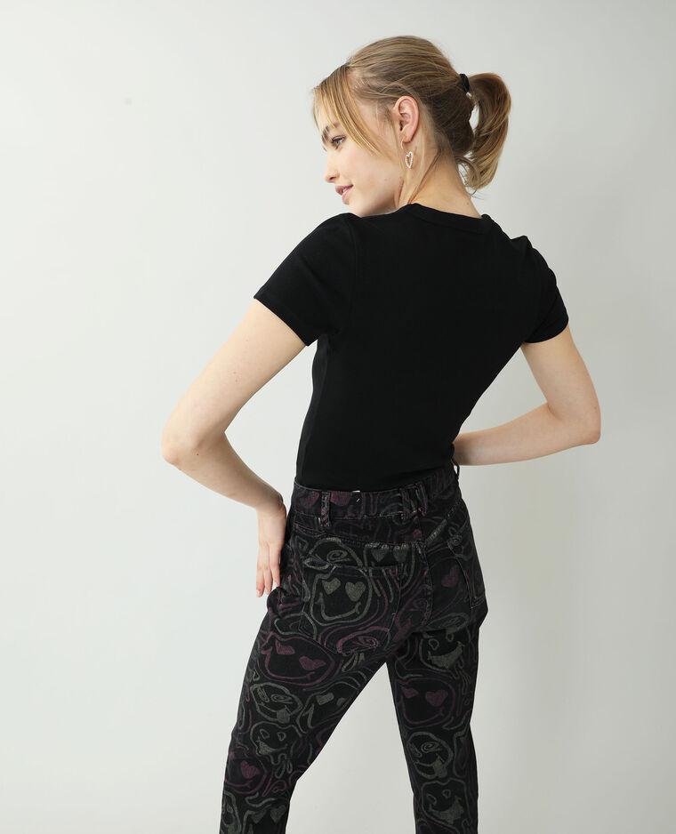 T-shirt basique noir - Pimkie