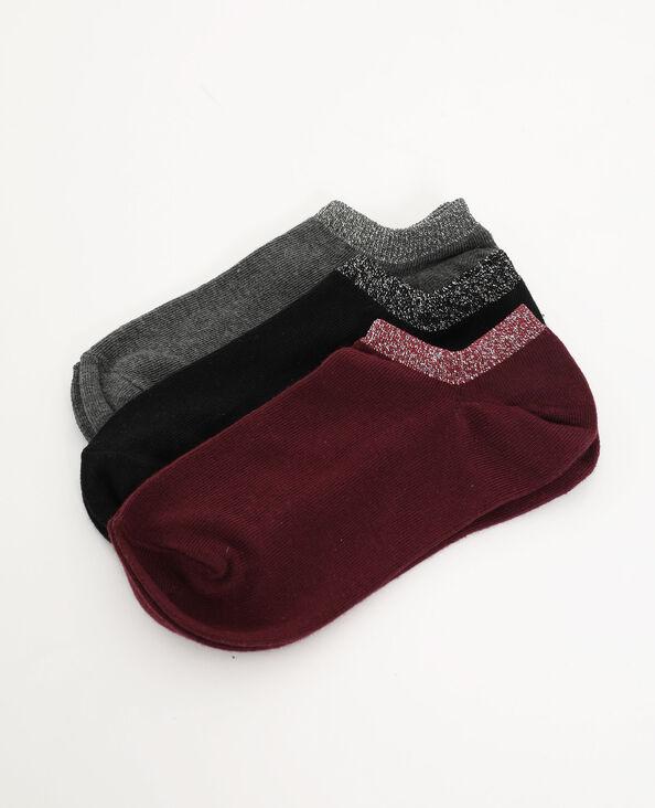 Lot de 3 paires de chaussettes basses gris