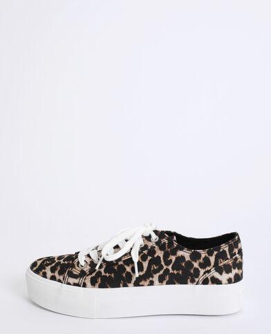 Baskets léopard marron