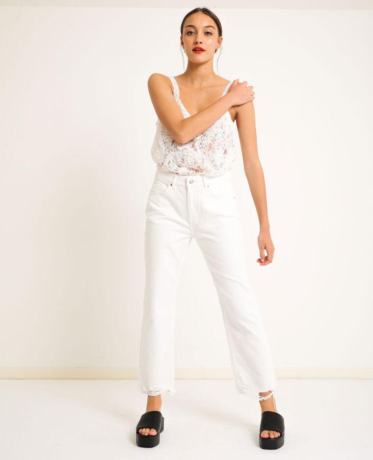 Jean straight high waist blanc - Pimkie