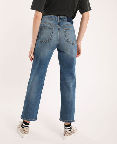 Jean straight mid waist bleu denim