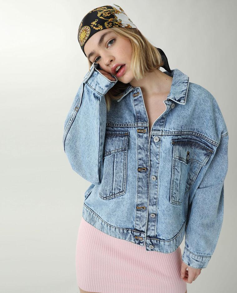 Veste en jean oversize bleu denim - Pimkie