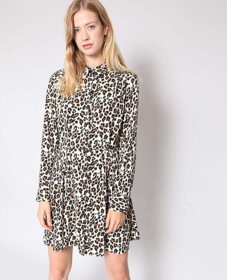 Robe imprimé léopard brun