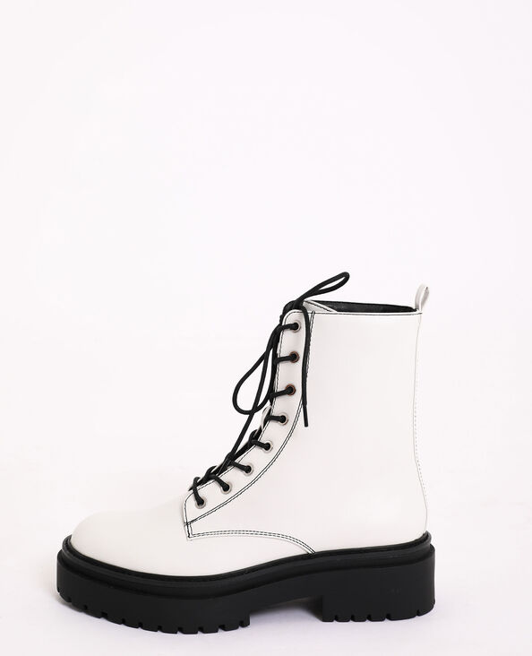Boots rock blanc