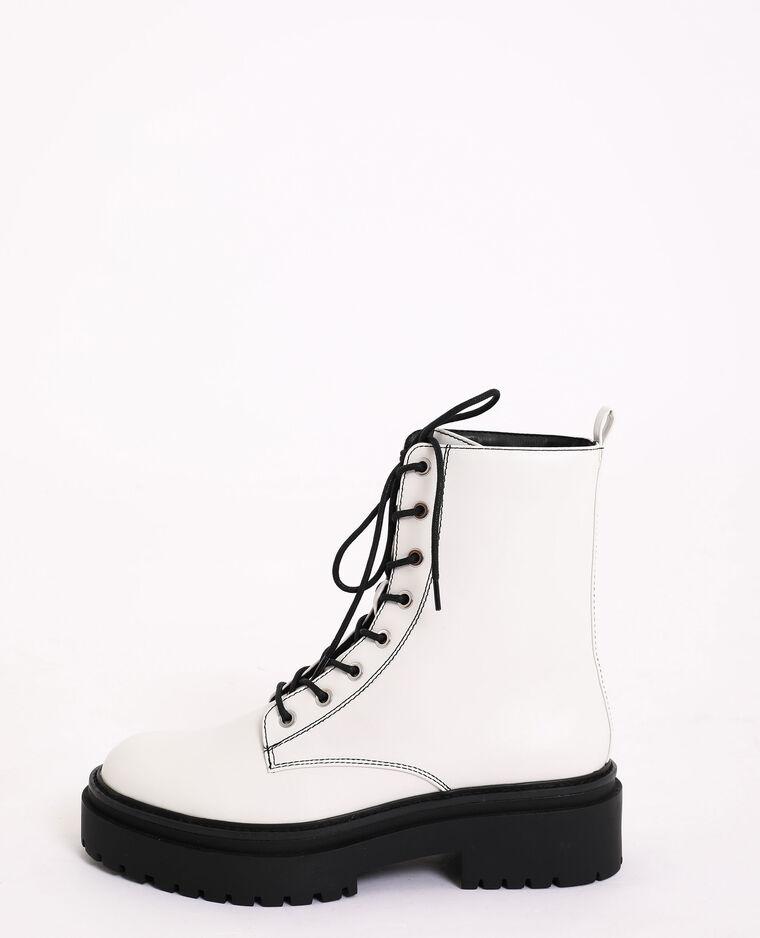 Boots rock blanc