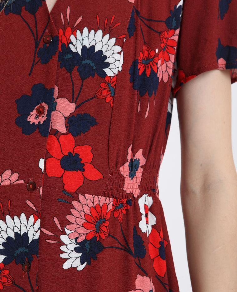 Robe à imprimé fleuri rouge
