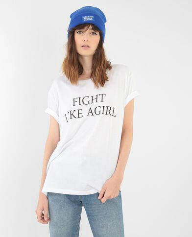 T-shirt collection limitée blanc - Pimkie